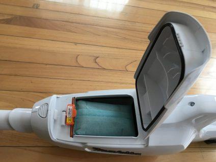 マキタ充電式クリーナーCL107FDSHWのゴミボックス